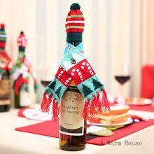 Рождественские украшения, рождественские винные бутылки, рождественские украшения для дома, Санта-Клаус, рождественский стол, Декор, подар...(Китай)