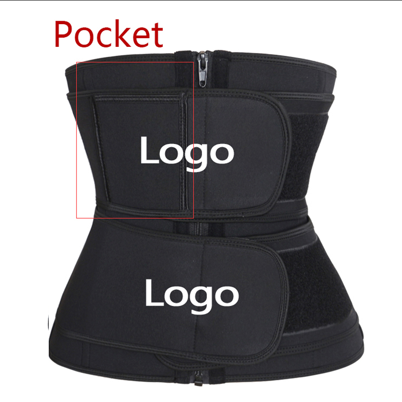 NANBIN Wholesale Private Label Double Straps Neoprene Slimming Waist Trainer Corset