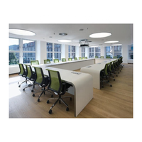 Contermpoary 30 Person 7m Meeting Room Extra Long Boat Shape Conference Table Modern Luxury Office Marble Boardroom Table