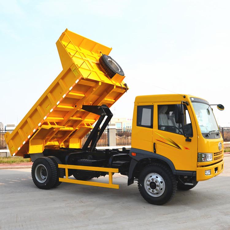 FAW Truck Price 6 ton Diesel Engine 4x4 Mini Tipper Dump Trucks for sale