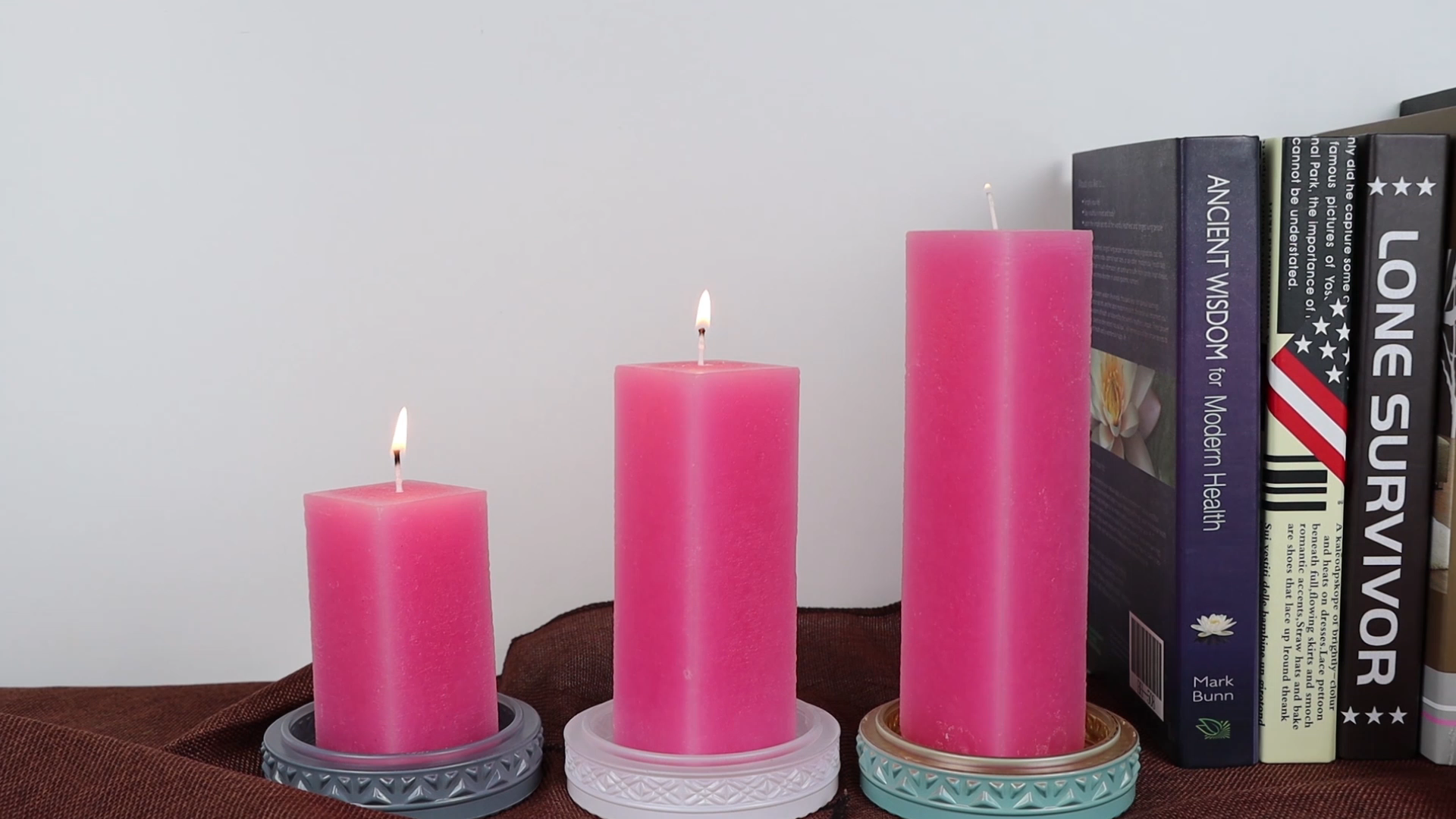 Professional Factory Supply Scented  Pillar Candle Stick