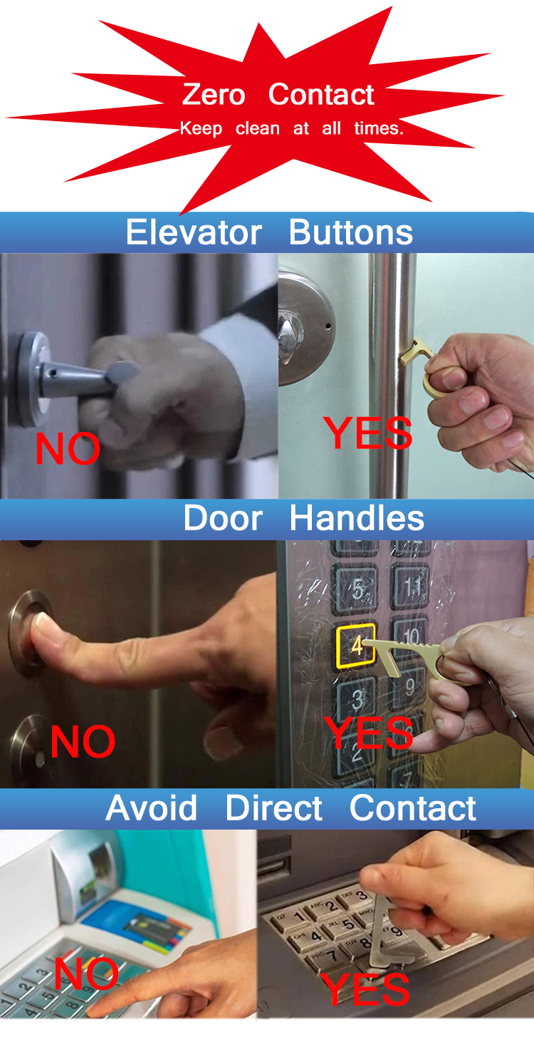 พวงกุญแจเปิดประตูแบบไม่ต้องสัมผัส,อุปกรณ์เปิดประตูอเนกประสงค์