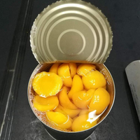6*3000g(3kg)/106OZ cheap fresh canned peach in light syrup