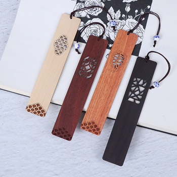 Custom Laser Engraving Natural Wood Decorate Craft Wood Bookmarks