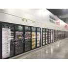 Walk in cooler cold room heated glass door with shelving