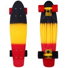 """22 """"Крейсер скейтборд мини пластиковый скейт доска Ретро Лонгборд Графический галактика Звездная печатная скейт доска(Китай)"""