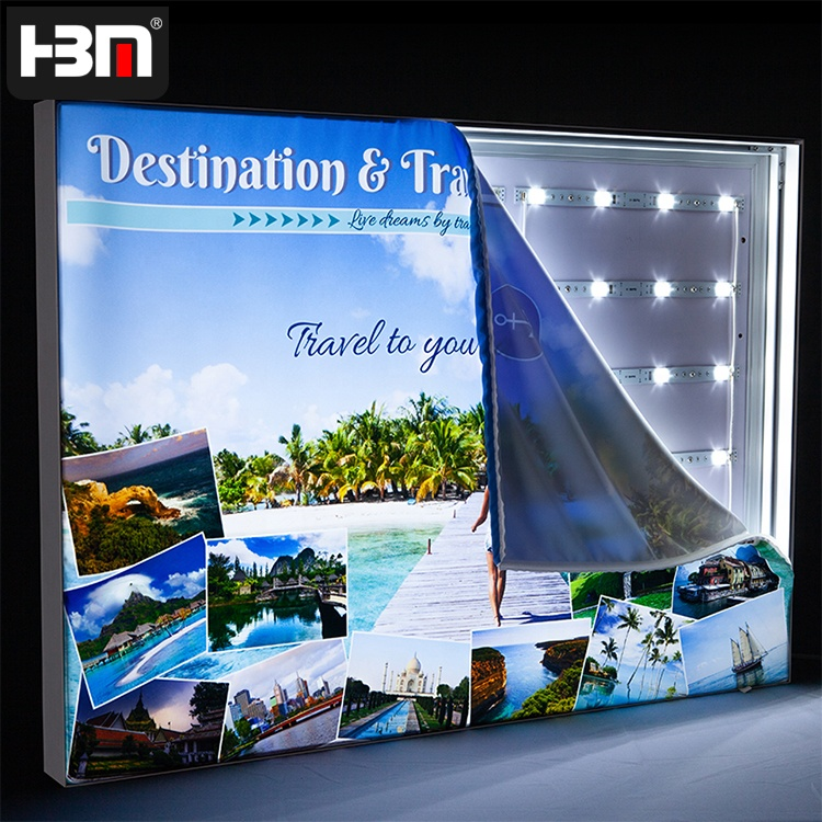 China supplier light box aluminium framing led backlit light box picture fabric aluminum frame