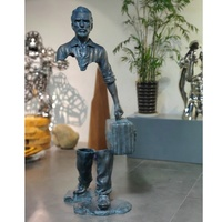 Bronze Man Metal Abstract Decoration Sculpture