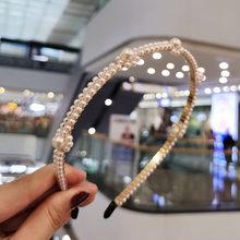 VKME головные уборы с жемчугом аксессуары для волос повязка на голову ручная работа линия бисерная повязка на голову для девочек кнопки для в...(Китай)