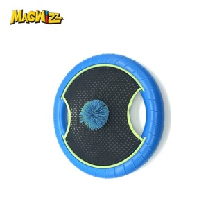 Deluxe Trampoline Paddle Ball Flying Discs, Super Bounce-Back Family Game Set Outdoor Family Camping Game for Kids, Adults