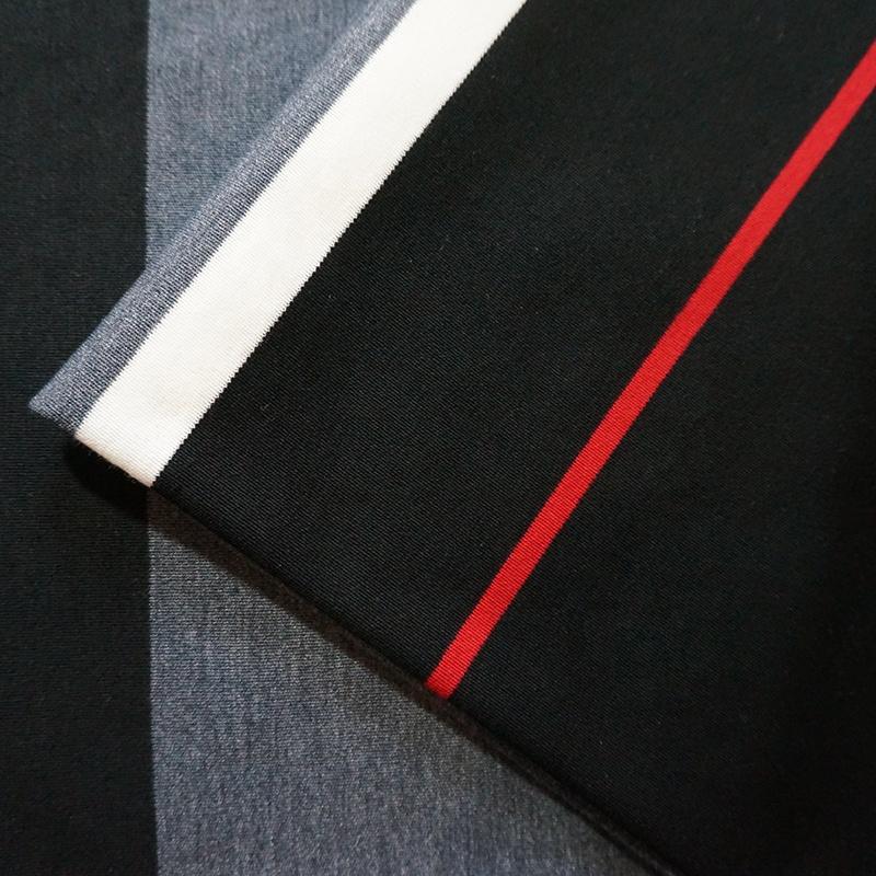 Двухполосная жаккардовая смесь хлопка шерсть полиэстер вязание ткань