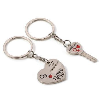 I Love You Couple Keychains, Key to My Heart Cute Love Keychain Key Ring Couple Gifts for Boyfriend and Girlfriend