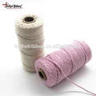 Retail packaging natural color twisted cotton rope twine spool