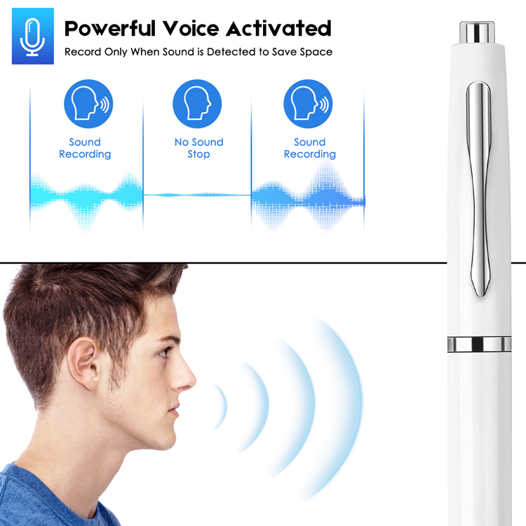 Aomago Digital Voice Recorder 192kbps 16GB Voice Activated Recorder Device with Playback for Lectures