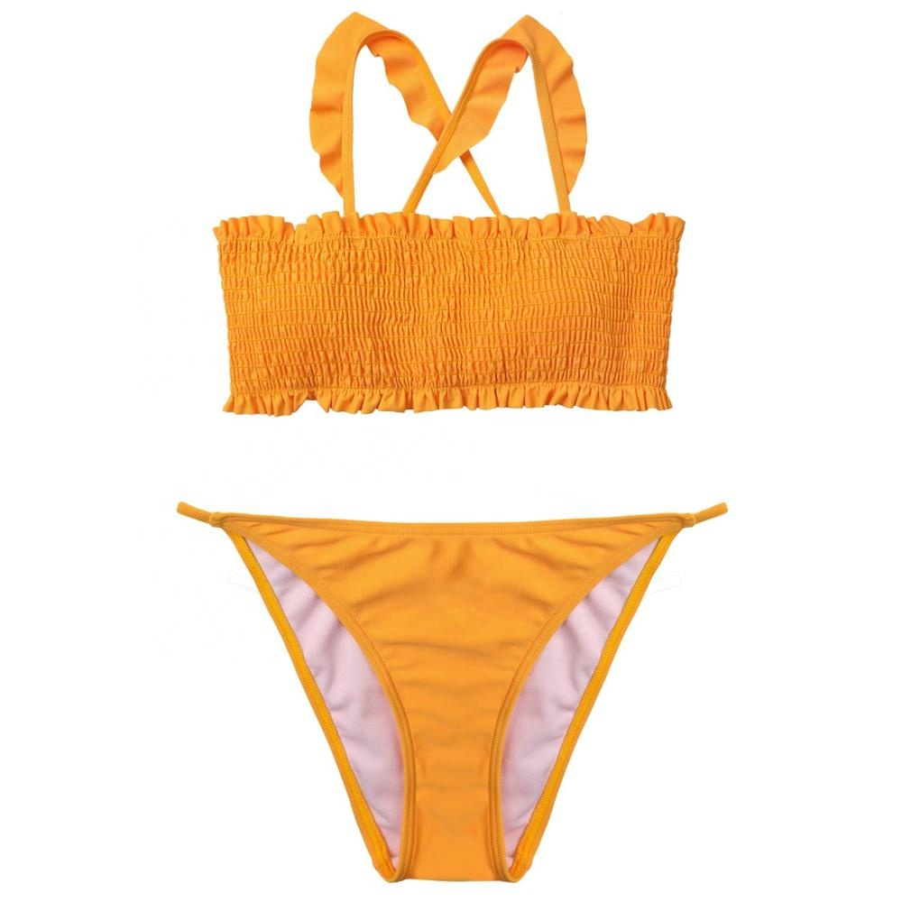 Lovely color waveselvedge sling shrink bikini top <strong>beautiful</strong> back openable bandage bikinis