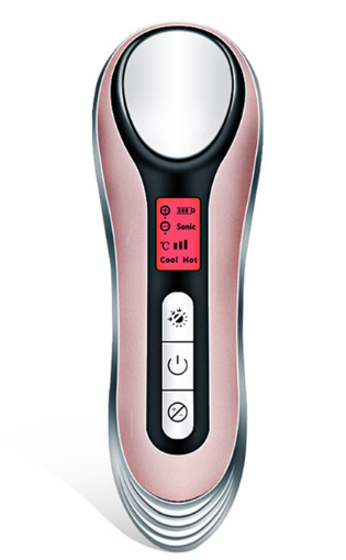 Portable Hot and Cold Face Device Handheld Beauty Instrument Ultrasonic Multiple Facial Massager