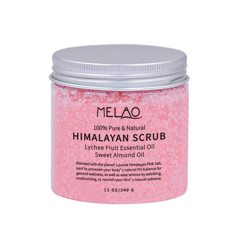 Himalayan Scrubsalt con Collagene E di Cellule Staminali Tutto Naturale Del Corpo E Il Viso Scrub Olio di Mandorle Dolci