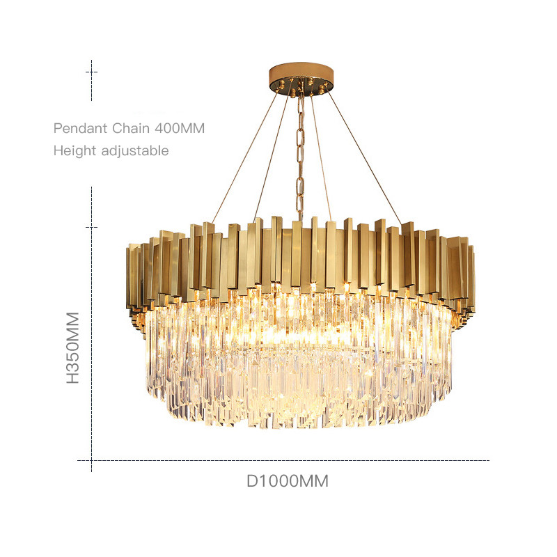wholesale hotel wedding dining living room large gold big pendant ceiling home modern luxury crystal chandelier hanging light