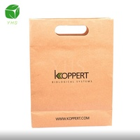 China factory cheap custom made die cut handle biodegradable printing small brown kraft paper gift bag