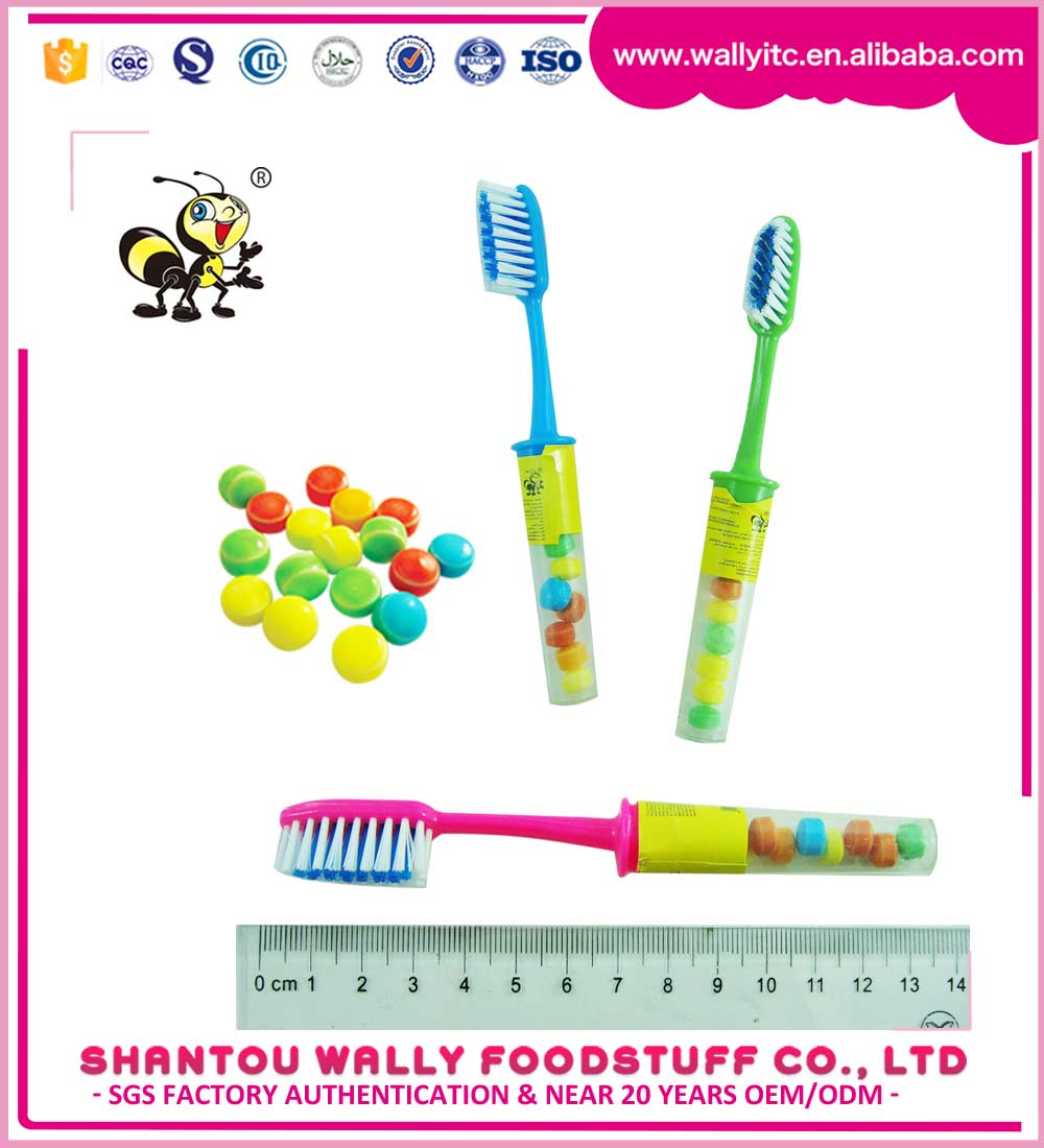 China Toothbrush Toys Assorted Fruity Bubble Gum Candy