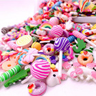 Crafts LDD99 Resin Flatback Charms Slime Charms And Containers Mixed Candy Cake Sweets Resin Cabochons For DIY Crafts
