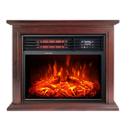 modern Freestanding Portable wooden Infrared electric fire place HEATER fireplace with mantel