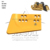 8E4546 bulldozer spare parts cutting edge and end bit for D11