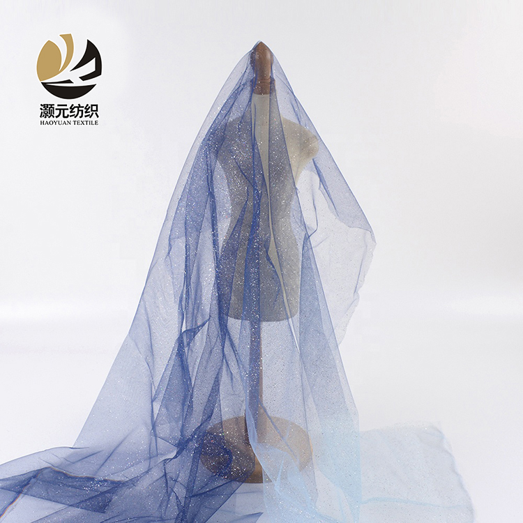 Mới nhất thiết kế gradient màu xanh in đầy màu sắc sequin wedding dress chất liệu vải cho ăn mặc