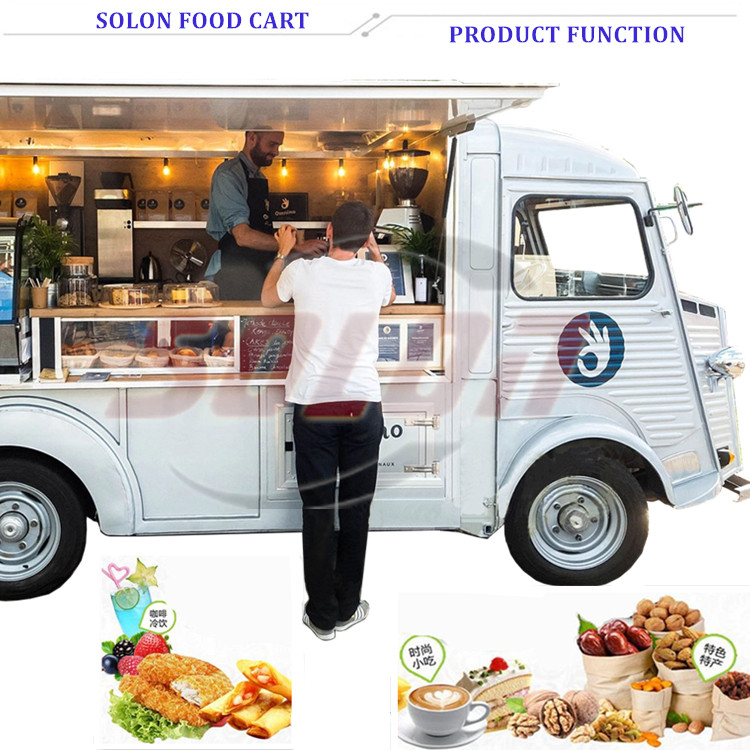 Popular food trailer fast food truck coffee food truck in UK