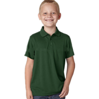 Byval Children Dry Fit Polo Shirt Customize Design Polyester Anti Pilling Golf Shirts Solid Color School Uniform US Size