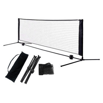 Factory Wholesale Price High Quality 4M Folding Adjustable Height Portable Badminton Net And Pickleball Tennis Net Stand