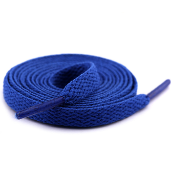 ZONESIN Custom Branded Blue Children Cotton Flat Shoe Laces