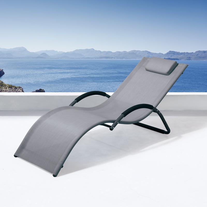 mesh chair sun lounger chaise sunbed outdoor daybed pool lounge chairs swimming pool chair cabana sun bed outdoor garten loungir
