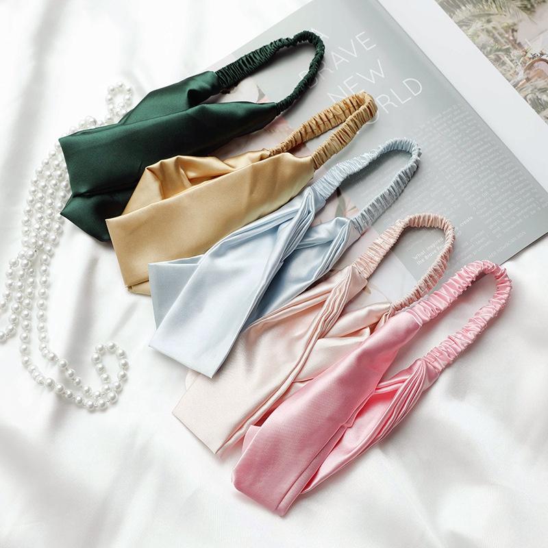 Свадебный подарок красивый макияж модная мягкая шелковая повязка для волос