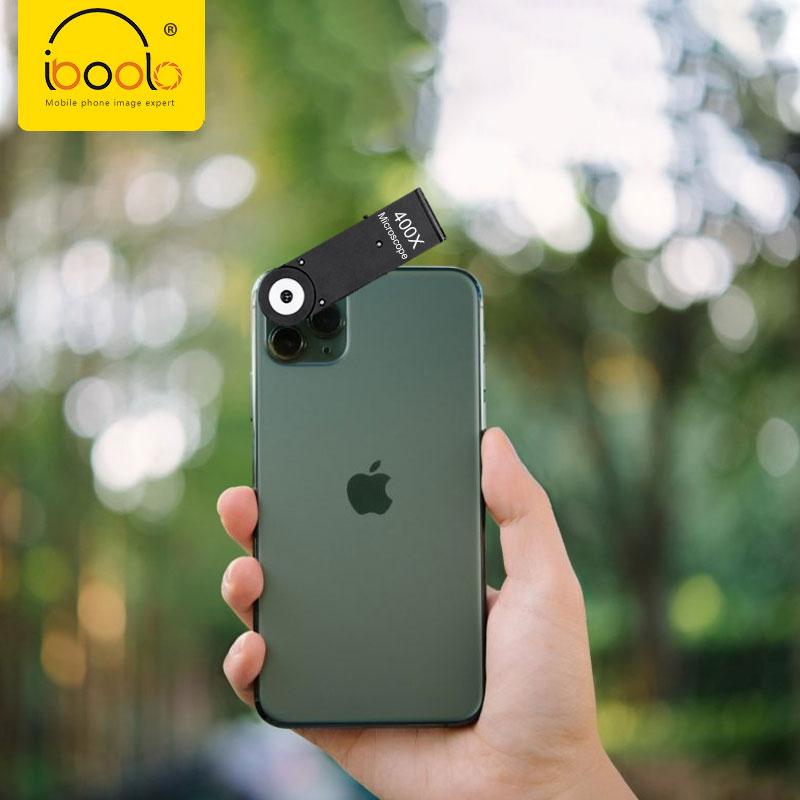 IBOOLO Kamera Telepon Premium, Mikroskop 400x Optik untuk iPhone