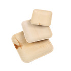 25pcs biodegradable square disposable palm leaf plates disposable plates made of palm leaves
