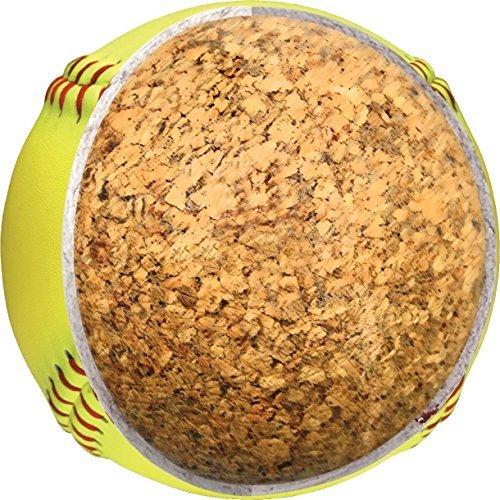 12 zoll größe optic gelb pvc leder kork softball, softballs made leago fabrik