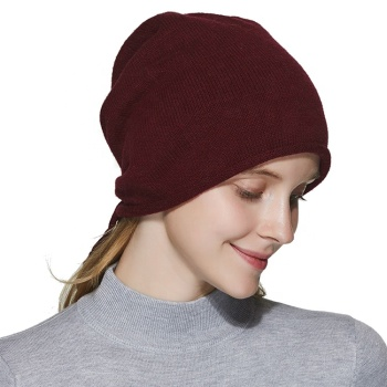 High quality soft wool knit winter oversized beanie hat