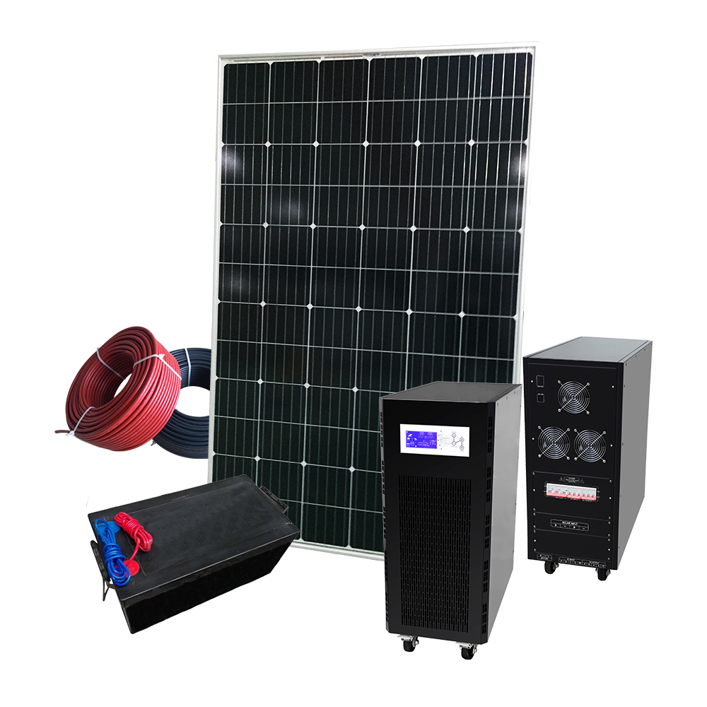 Best price 5kw 5000w solar system  for home off-grid 5kw home solar system solar panel system with battery charger and Inverter