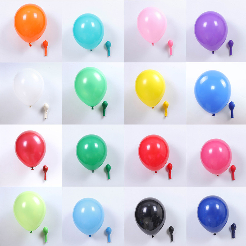 Fashion 10 inch Round Shaped Thick Matte Balloon Happy Birthday Wedding Party Decoration Balloons