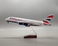 Customize A380 British LED airplane model voice control passenger aircraft model 1:160 46cm Hollow out the fuselage