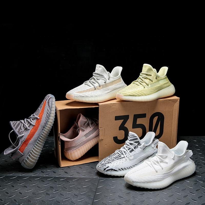 Men Fashion Sneakers Casual 2020 Yeezy 350 Sports Running Air-Cushion Original Quality 1:1 Men Women Style Running Sneakers