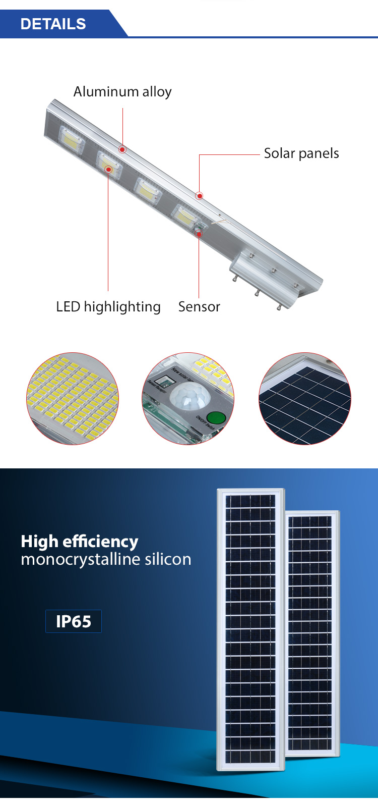ALLTOP SMD Aluminum Outdoor IP65 waterproof 60W 120W 180W 240W integrated all in one solar led street light