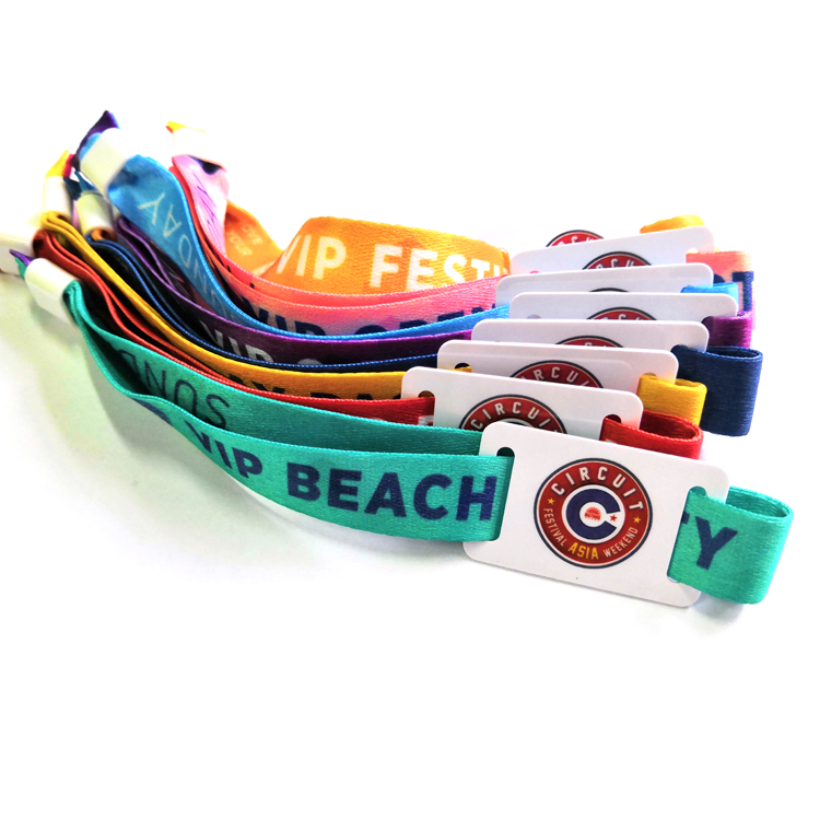 13.56Mhz low cost nfc woven wristband with high quality