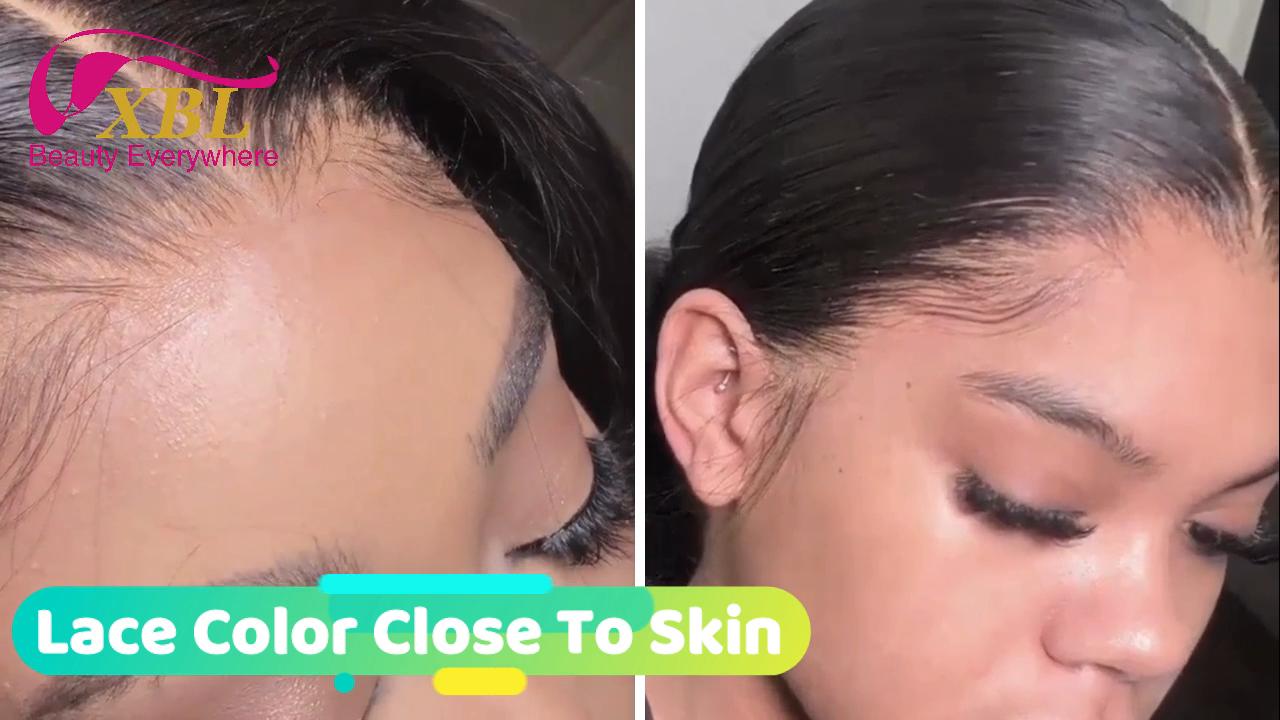 Bán Buôn Brazil Tóc HD Giả Da Đầu Full Lace Human Wigs, Trinh Nữ Tóc HD Trong Suốt Full Lace Human Hair Wig Đối Với Phụ Nữ Màu Đen