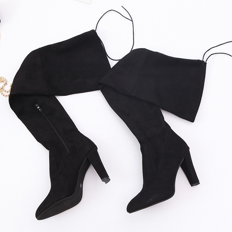 New Faux Suede Slim Boots Sexy Over The Knee High Women Fashion Winter Thigh High Boots Shoes Woman Fashion Botas Mujer
