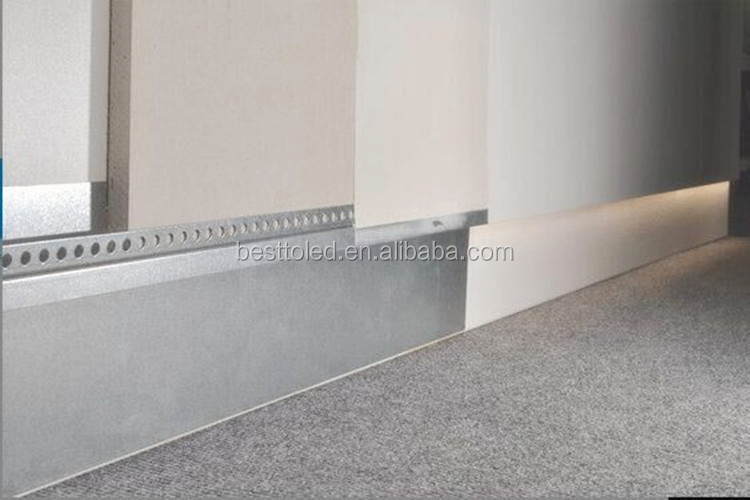2019 Architectural Gypsum Plaster Ceiling skirting drywall Aluminium Profile for led strip lighting trim cove lighting