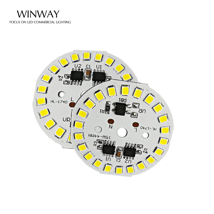 2 year warranty China Factory LED Module 15w 220V  retrofit driverless 90Lm/W SMD 2835 round  led module PCB for bulb light