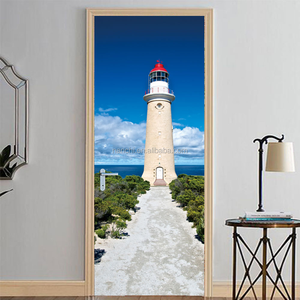 3d wall sticker 3D lighthouse wallpapers decorative plastic wallpaper vinyl stickers decoration removable wallstickers