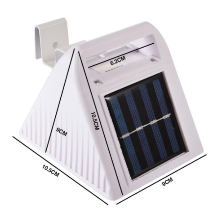 Solar Lights Outdoor Motion sensor Night security wall lamp White Light 6 LED Waterproof Energy saving Garden Front door Yard